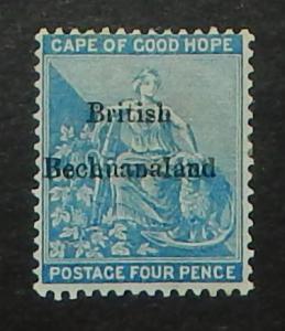 Bechuanaland 1. 1886 4p Blue overprint
