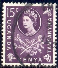 Coffee, Kenya, Uganda & Tanzania stamp SC#122 used