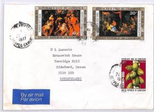 BQ84 1977 Cameroon Royaume-Uni Devon Great Britain Airmail Cover {samwells} PTS