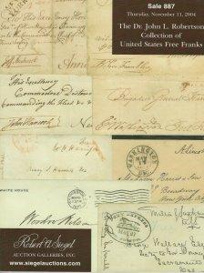 J.L. Robertson Coll. of U.S. Free Franks, R.A. Siegel, Sale #887, Nov. 11, 2004