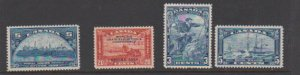 CANADA  #202,03,04,08  (4) STAMPS MLH  LOT#115