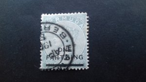 Bermuda 1901 Not Issued Stamp Surcharged Used