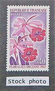 France 1192. 1967 40c Orleans Flower Festival, NH