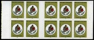 HERRICKSTAMP ANDORRA-FRENCH Sc.# 471 Self-Adhesive Stamp Pane of 10 NH