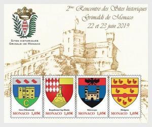 H01 Monaco 2019 Historical Sites of hte Grimaldis of Monaco  MNH Postfrisch