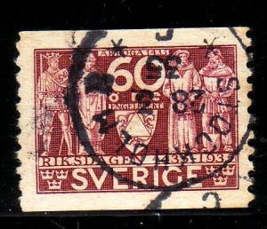 Sweden Sc 247 1935 60 ore 4 estates stamp used
