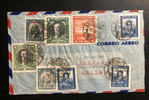 1936 Ambulant Post Office Chile Airmail Cover to Zurich Switzerland b