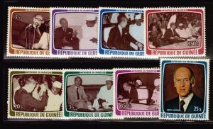 Giscard France president Guinea MNH stamp 762-768,C145 cv$22 coffe cup pen dress