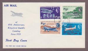 Fiji # 236 - # 239 , Anniversary of 1st Flight Thru Fiji FDC - I Combine S/H