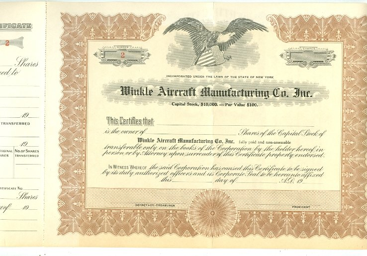 AIRLINES STOCK CERTIFICATES...LOT of (5)