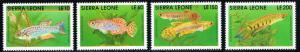 Sierra Leone # 1355, 1358, 1360, 1361 MNH