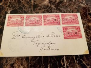 1929 Tegucigalpa Honduras First Day Cover Comp Set # CB1-CB4 Airmail