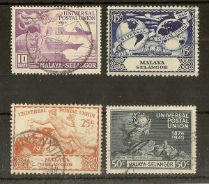 Selangor 1949 UPU Set Fine Used