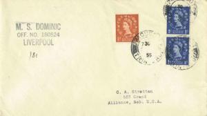 Trinidad Great Britain 1/2d and 1d (2) QEII 1955 Paquebot, Trinidad Hosking 2...
