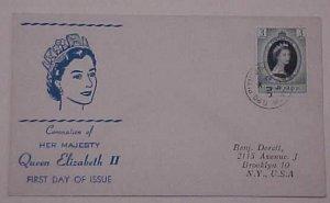 MONTSERRAT FDC QUEEN ELIZABETH II CORONATION 1953