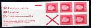 Netherlands Scott # 462a, mint nh, cpl. stamp booklet, se-tenant