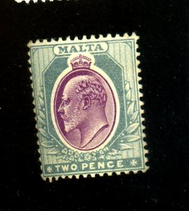 MALTA #33 MINT F-F OG HR Cat $13
