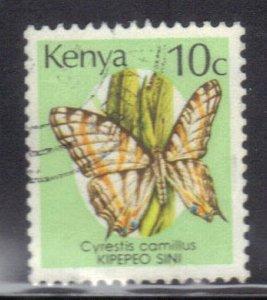 KENYA SCOTT# 424A USED 10c 1988-90  BUTTERFLY  SEE SCAN