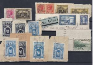 Monaco Used Stamps on Piece Ref: R7110