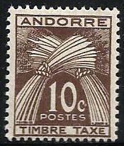 French Andorra Scott# J32 MH