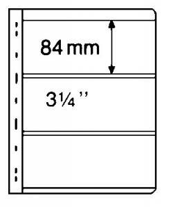 Stocksheets, VARIO 3 PKT BLACK, 2 side 1 lot (5 PKS) (V3S)