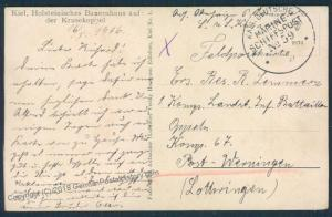 Germany WWI Marineschiffspost MSP59 SMS Kaiser Feldpost Cover 47982
