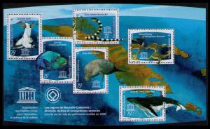 New Caledonia Birds Fish Snake Turtles Dugong Whale MS SG#1459 MI#1483-1488