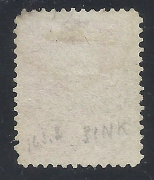 64a   3c Used Pigeon Blood Pink w/PSE Cert  Reperf at right, small tears, faded