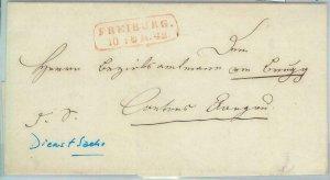 81995 - GERMANY Baden - POSTAL HISTORY - Prephilatelic cover from FREIBURG  1842