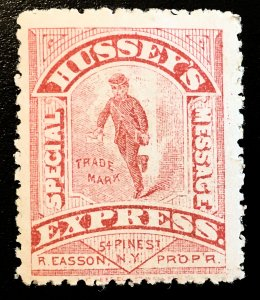 US #87L75 Hussey's private delivery, 1880, hinged, orig. gum, Vic's Stamp Stash