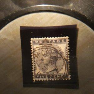 GB 85  5p indigo 1881  VF used