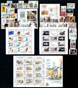 [58544] Spain 1999 Complete Year Set incl. souvenir sheets MNH