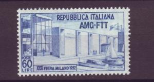 J21273 Jlstamps 1952 italy Trieste mh #144 milano