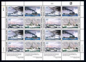 [68459] Marshall Islands 1990 World War II Battle Ships Full Sheet MNH