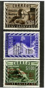 ECUADOR 684-686 MNH SCV $5.25 BIN $2.75 GEOGRAPHY, ANIMALS UNESCO