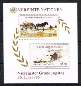 UN Vienna Souvenir Sheet 54