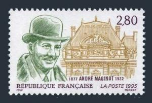 France 2493,MNH.Michel 3108. Andre Maginot,creator of Maginot Line,1995.