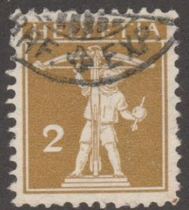 Switzerland, used, Scott# 146, crossbow,   #M298