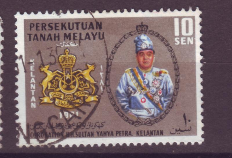 J17927 JLstamps [low price]  1961 malaya kelantan used #83 sultan