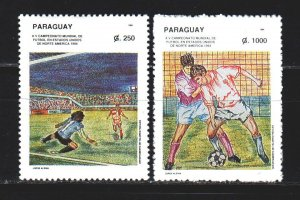 Paraguay. 1994. 4656-58 in a series. Football. MNH.