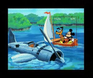PALAU - 1994 - DISNEY - MICKEY - PLUTO - RELIC - AIRCRAFT - MINT MNH S/SHEET!
