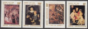 Central African Republic, SC 318-321, MNH, 1978, Rubens