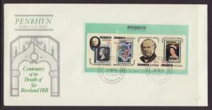 Penrhyn Rowland Hill 1979 U/A FDC BIN