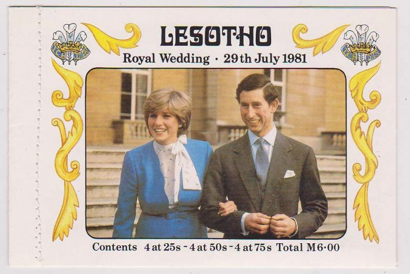 Lesotho - 1981 Royal Wedding Complete Booklet VF