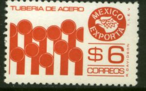 MEXICO Exporta 1121b, $6P Pipes Perf 11 Fluor Paper 7. MINT, NH. F-VF.