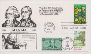 Girl Scout Cachets  –  FDC 1987 – DRC 29 of 30  #G08