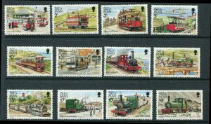 Isle of Man 12 Horse Steam Electric Trains Transport Repair MNH 1988 Issue