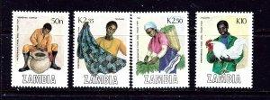 Zambia 444-47 MNH 1988 complete set  #2