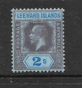 LEEWARD ISLANDS 1921-32   2/-    KGV    MLH   SG 74