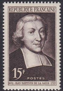 France # 646, Jean Baptiste la Salle,  Mint NH